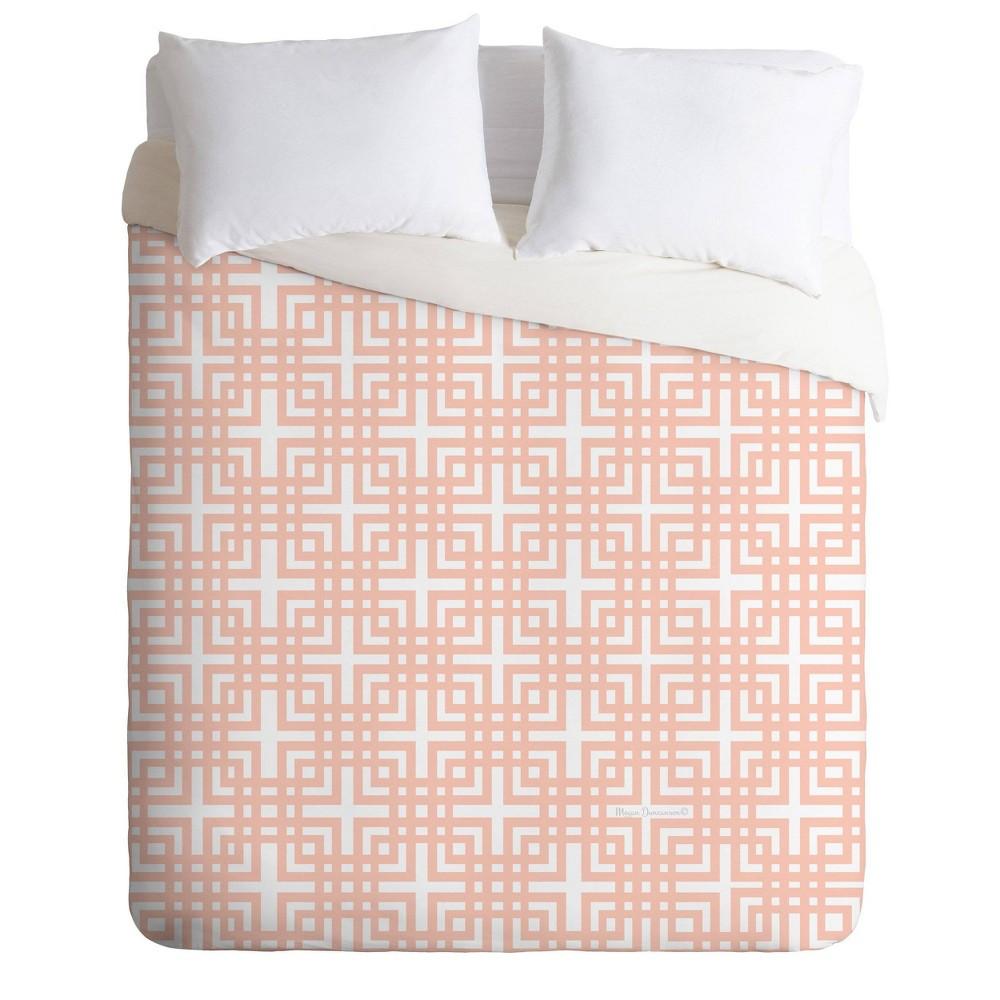 Best Twin/Twin XL Madart Inc. Tropical Fusion Peachy Pattern Comforter Set  - Deny Designs