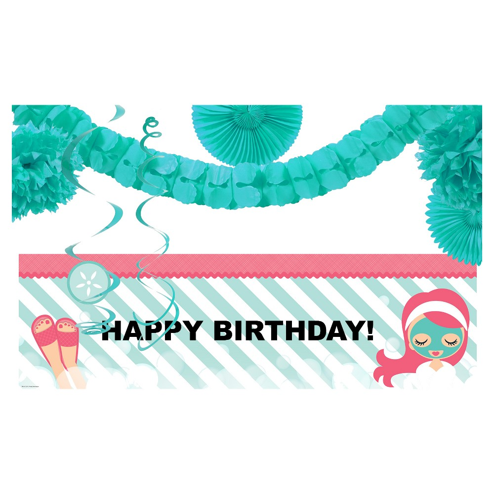 Happy Birthday Little Spa Party Décor Kit, Multi-Colored