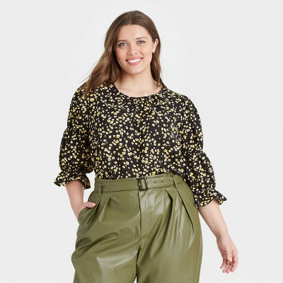 Women's Puff 3/4 Sleeve Top - Who What Wear™