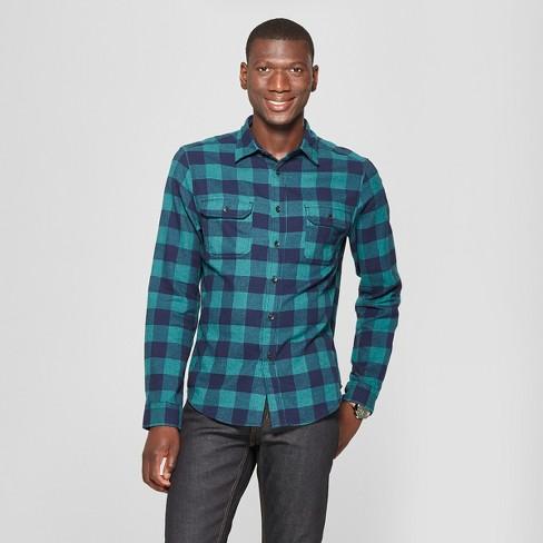 e8622a51e08a Men s Plaid Standard Fit 2-Pocket Flannel Long Sleeve Button-Down Shirt -  Goodfellow   Co™