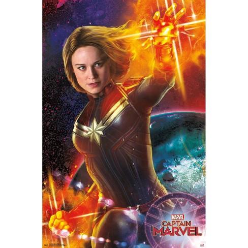 "34""x23"" Captain Marvel Energy Unframed Wall Poster Print - Trends International - image 1 of 2"