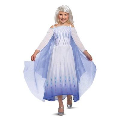Kids' Deluxe Disney Frozen 2 Snow Queen Elsa Halloween Costume Dress