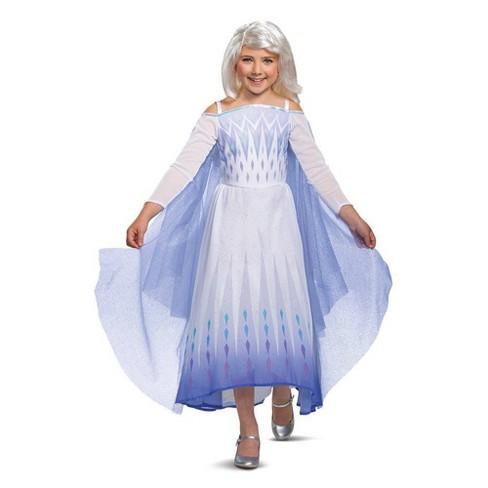 Kids' Deluxe Disney Frozen 2 Snow Queen Elsa Halloween Costume Dress - image 1 of 4