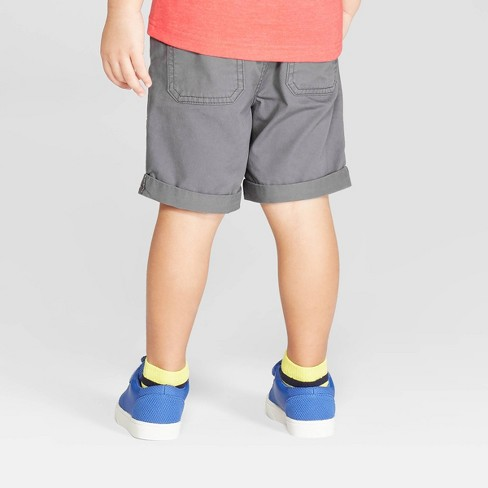 9e1be7100fa2 Toddler Boys  Twill Pull-On Shorts - Cat   Jack™ Gray   Target