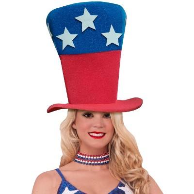Funky Fresh Patriotic Stars Adult Foam Costume Hat