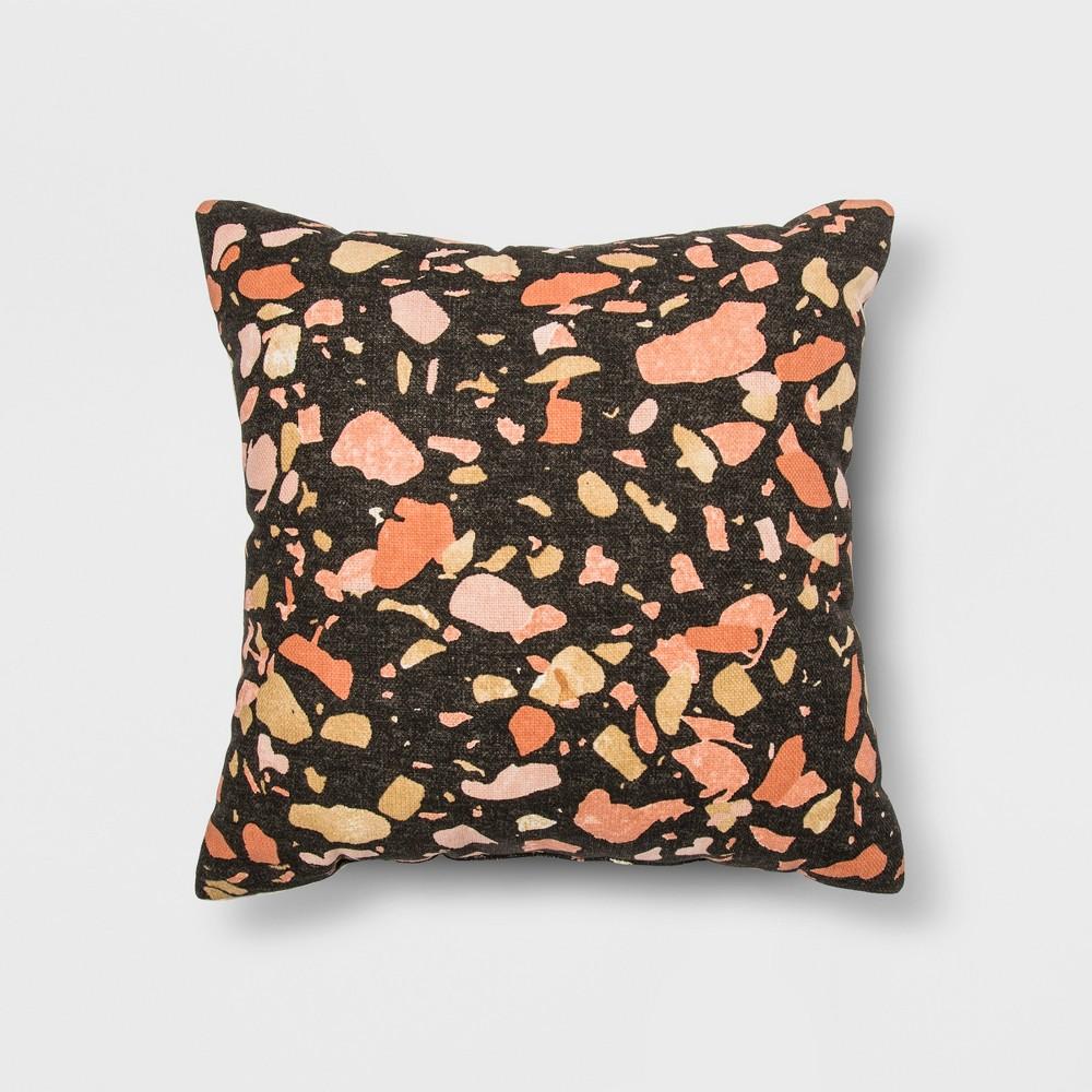 Terrazo Printed Square Throw Pillow Gray - Project 62 + Nate Berkus