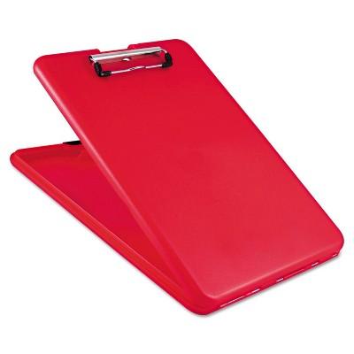 """Saunders 8 1/2 x 12 SlimMate Storage Clipboard, 1/2"""" Capacity- Red"""