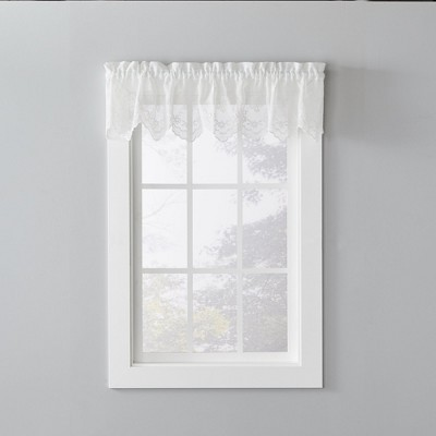 """Saturday Knight Ltd Jolie Embroidered Border Window Valance - (58""""x13"""") in Pearl Color"""