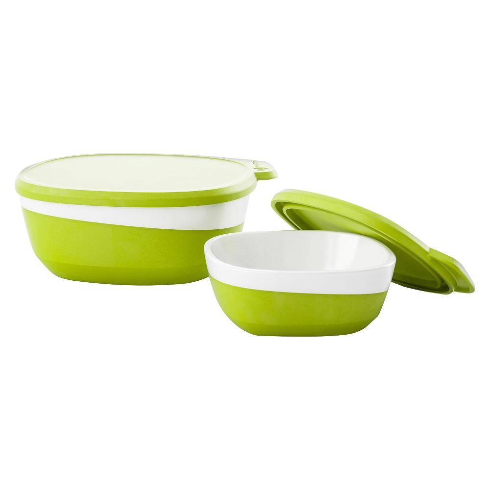 Image of 4moms Feeding Set White Green, White/Green