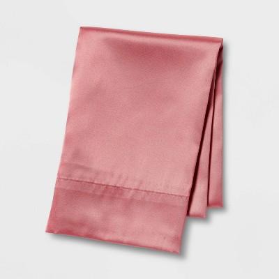 Standard Satin Solid Pillowcase Pink - Room Essentials™