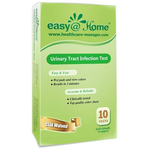 easy@Home Urinary Tract Infection Test Strips - 10ct - image 1 of 4