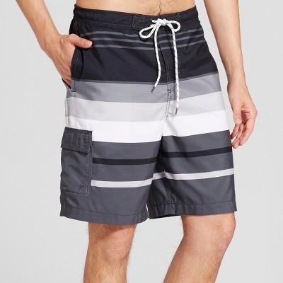 Men's Board Shorts Stripe 9  - Goodfellow & Co™ Black L