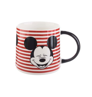 Mickey Mouse & Friends Mickey Mouse Porcelain Mug 26oz Stripes - Red/Black