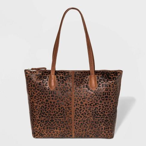 Bolo Leopard Print Raval Tote Handbag - Brown - image 1 of 4