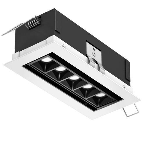 """DALS Lighting MSL5G-3K MSL Recessed 7"""" Wide 5 Light Square Adjustable LED Recessed Fixture - 3000K & 1050 Lumens - image 1 of 1"""