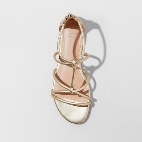91899290b723 Women s Samina Wide Width Gladiator Sandals - A New Day™ Gold 12 ...
