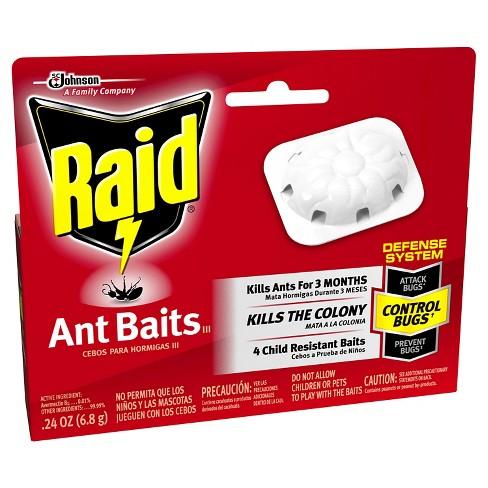 raid ant baits iii 4ct target
