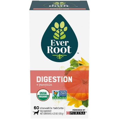 Purina EverRoot Natural, Organic Digestion Supplement Chewable Tablets for Dogs - 60ct
