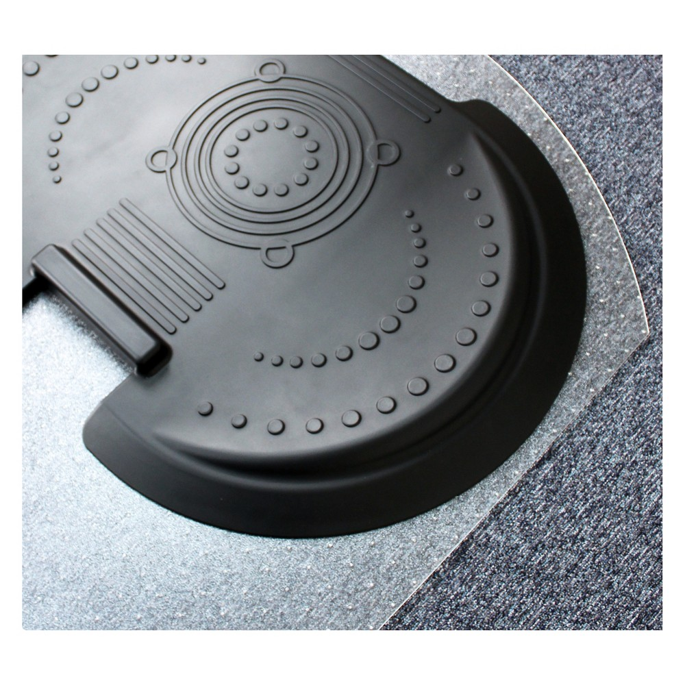 Image of System 5000 S2S Anti Fatigue Mat and Chair Mat For Sit and Stand Desk Work For Carpeted Floors - Afs-Tex, Black