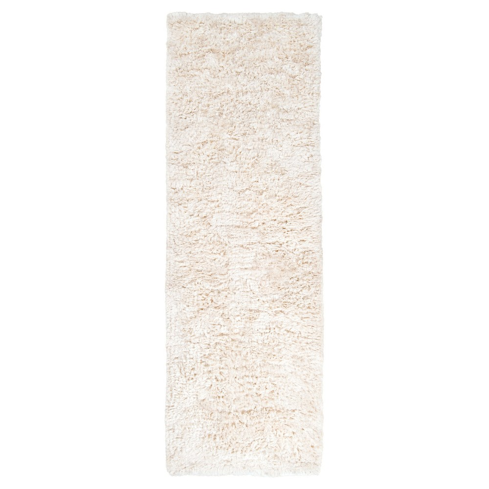 Cream (Ivory) Solid Woven Accent Rug - (2'X3') - Surya