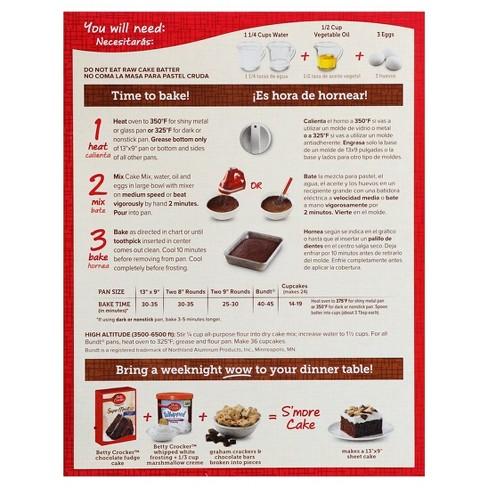 Betty Crocker Super Moist Chocolate Fudge Cake Mix 1525oz Target