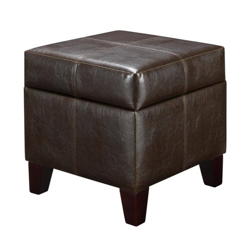 Phenomenal Small Cube Faux Leather Storage Ottoman Espresso Dorel Living Andrewgaddart Wooden Chair Designs For Living Room Andrewgaddartcom