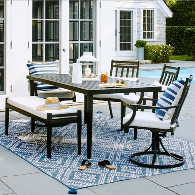 fairmont steel patio dining table black threshold target rh target com patio dining furniture near me patio dining furniture sets