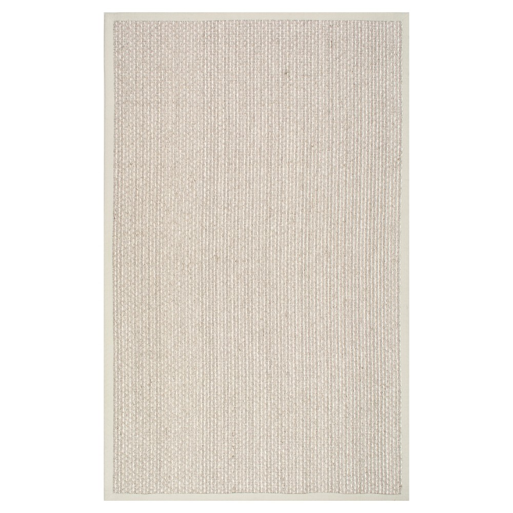 White Solid Loomed Area Rug - (7'6