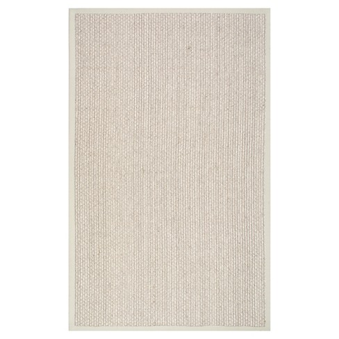 White Solid Loomed Area Rug - (5'x8') - nuLOOM - image 1 of 3