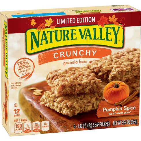 Nature Valley Pumpkin Spice Crunchy Granola Bars - 8.94oz - image 1 of 3