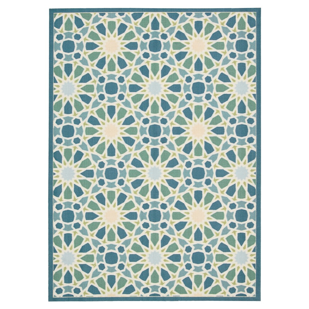 Waverly Starry Eyed Area Rug - Blue/Ivory/Green (10'X13')