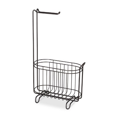 Reserve Basket With Freestanding Toilet Tissue Holder Bronze - Threshold™