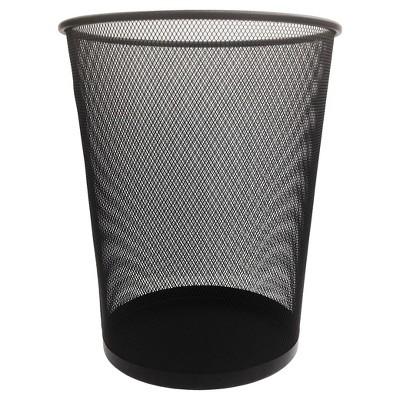 Steel Mesh Trash Can, Black - Room Essentials™