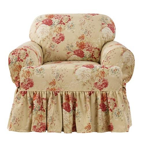 Excellent Ballad Bouquet T Chair Slipcover Waverly Inzonedesignstudio Interior Chair Design Inzonedesignstudiocom