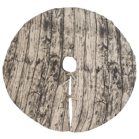 Saro Lifestyle Woodgrain Print Christmas Tree Skirt - image 1 of 4
