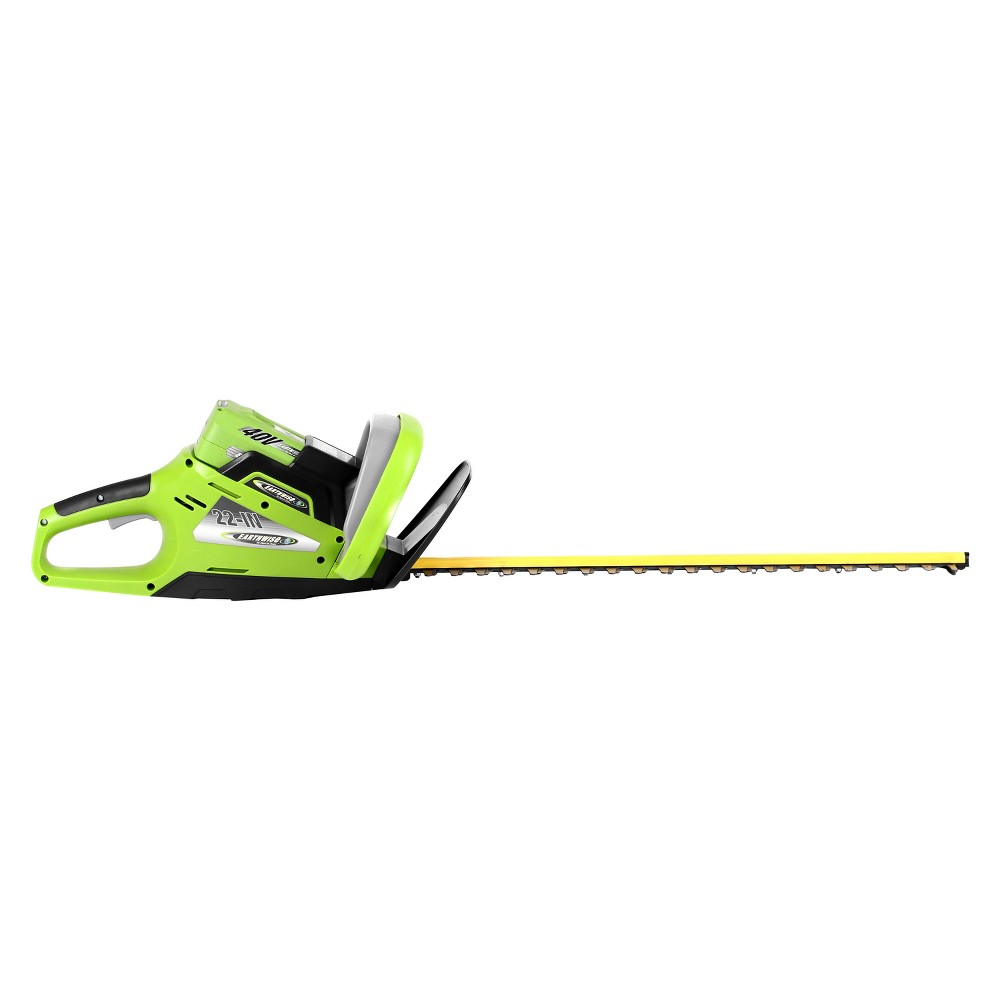 "Image of ""22"""" 40 Volt, 240 Watts Cordless Lithium Hedge Trimmer - Green - Earthwise, Gray"""