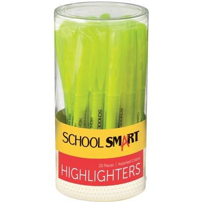 School Smart Highlighter, Yellow, pk of 20