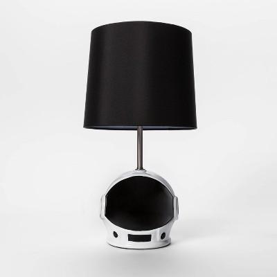Helmet Visor Figural Table Lamp Black - Pillowfort™