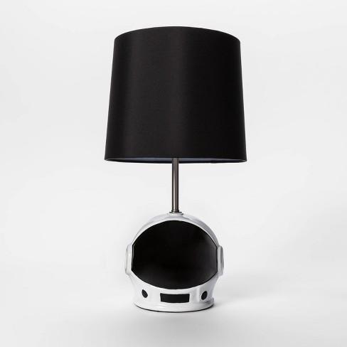 Helmet Visor Figural Table Lamp Black - Pillowfort™ - image 1 of 2