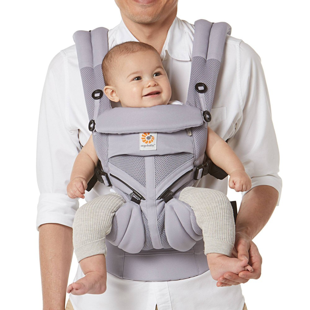 Ergobaby Omni 360 Cool Air Mesh Baby Carrier Lilac Gray