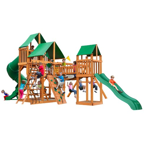 Gorilla Playsets Treasure Trove I Swing Set With Amber Posts