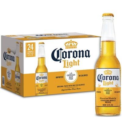 Corona Light Lager Beer - 24pk/12 fl oz Bottles