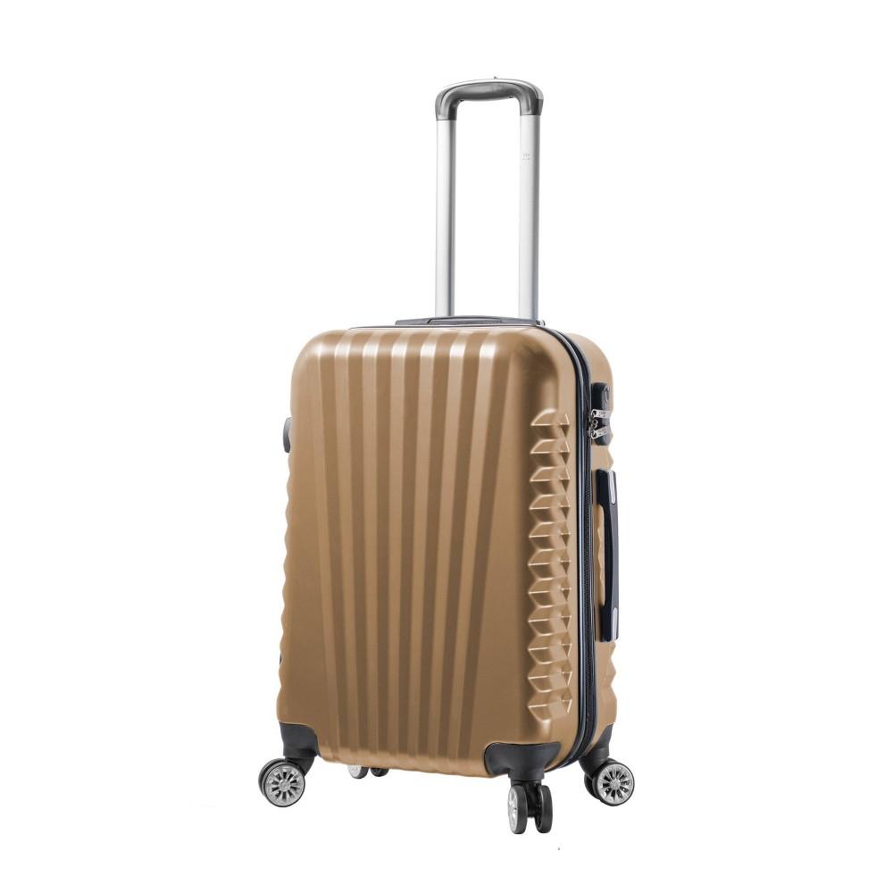 Mia Viaggi Italy Catania 24 Hardside Suitcase - Champagne (Beige)