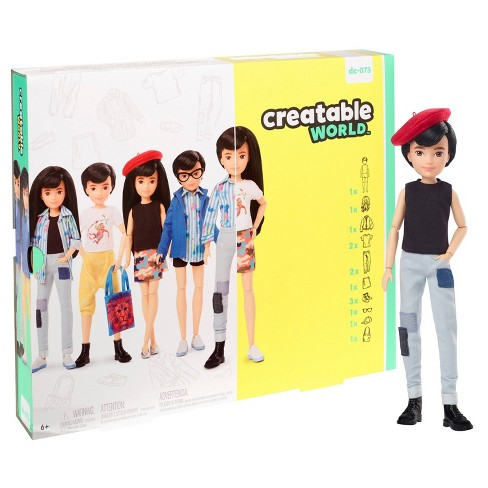 Creatable World Deluxe Character Kit Customizable Doll - Black Straight Hair - image 1 of 4