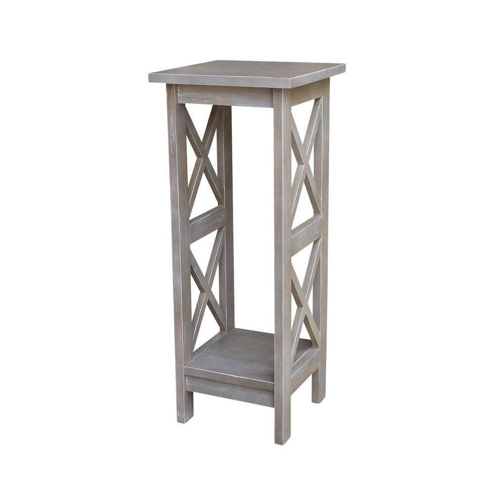 Image of Solid Wood 30 X Sided Plant Stand Washed Gray Taupe - International Concepts, Brown