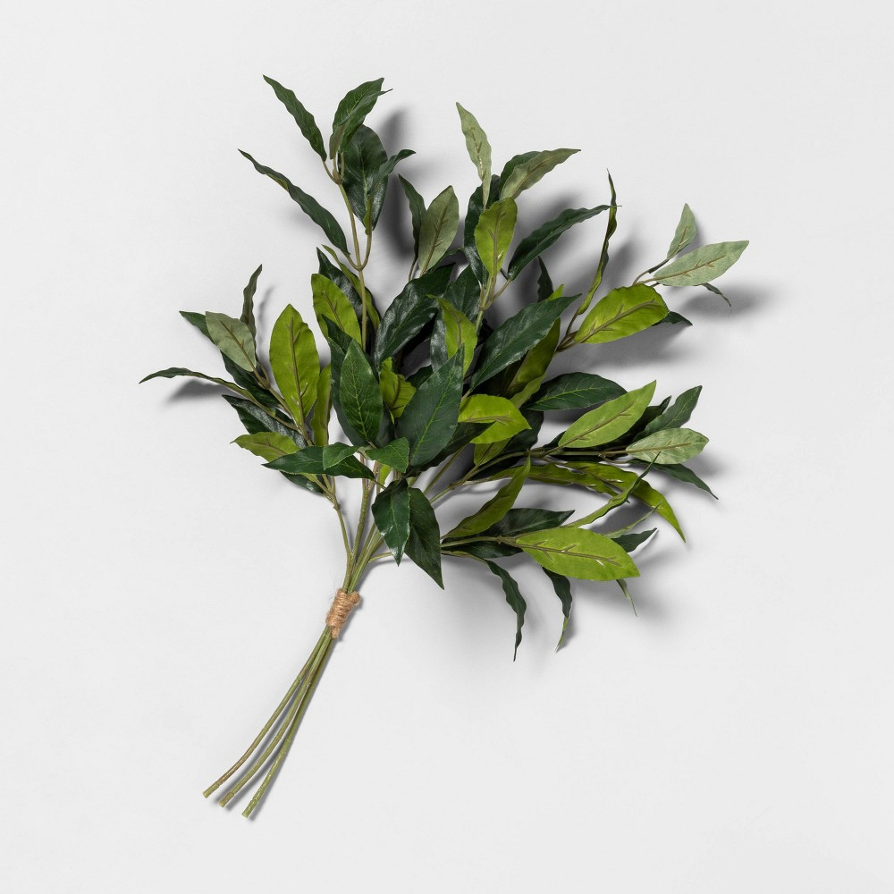 """Image of """"20"""""""" Faux Bay Leaf Stem Bundle - Hearth & Hand with Magnolia, Green"""""""