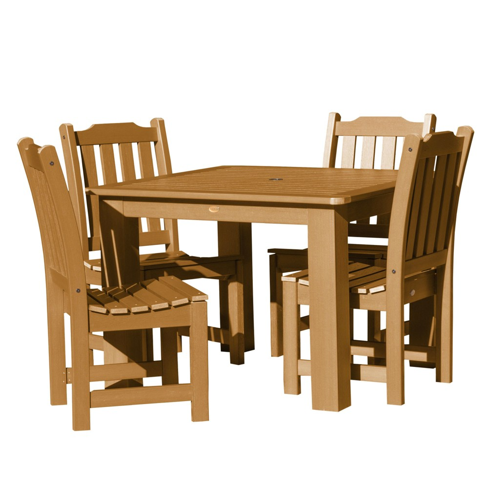 Lehigh 5pc Square Dining Set Toffee - Highwood