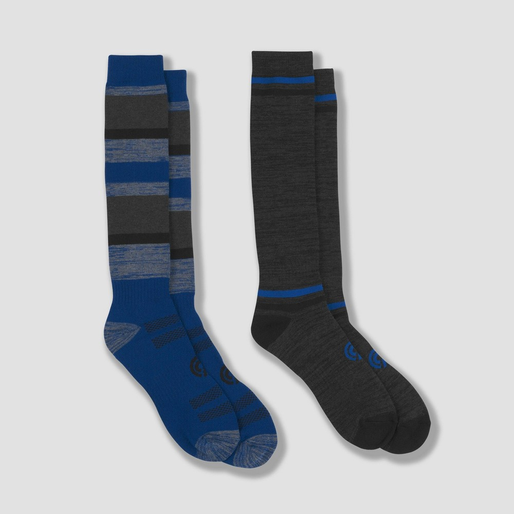 Image of Men's Outdoor Heavyweight Wool Blend Over The calf Length Socks 2pk - C9 Champion 6-12, Size: Small, MultiColored