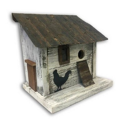 Home Bazaar HBA-1012 Handcrafted Freestanding Cumberland Chicken Coop Hen House Birdhouse for Wrens, Finches, Chickadees, and More