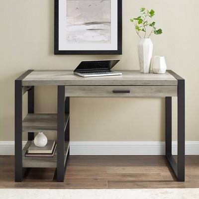 "48"" Carlisle Innovative Industrial Tech Desk with USB - Saracina Home"